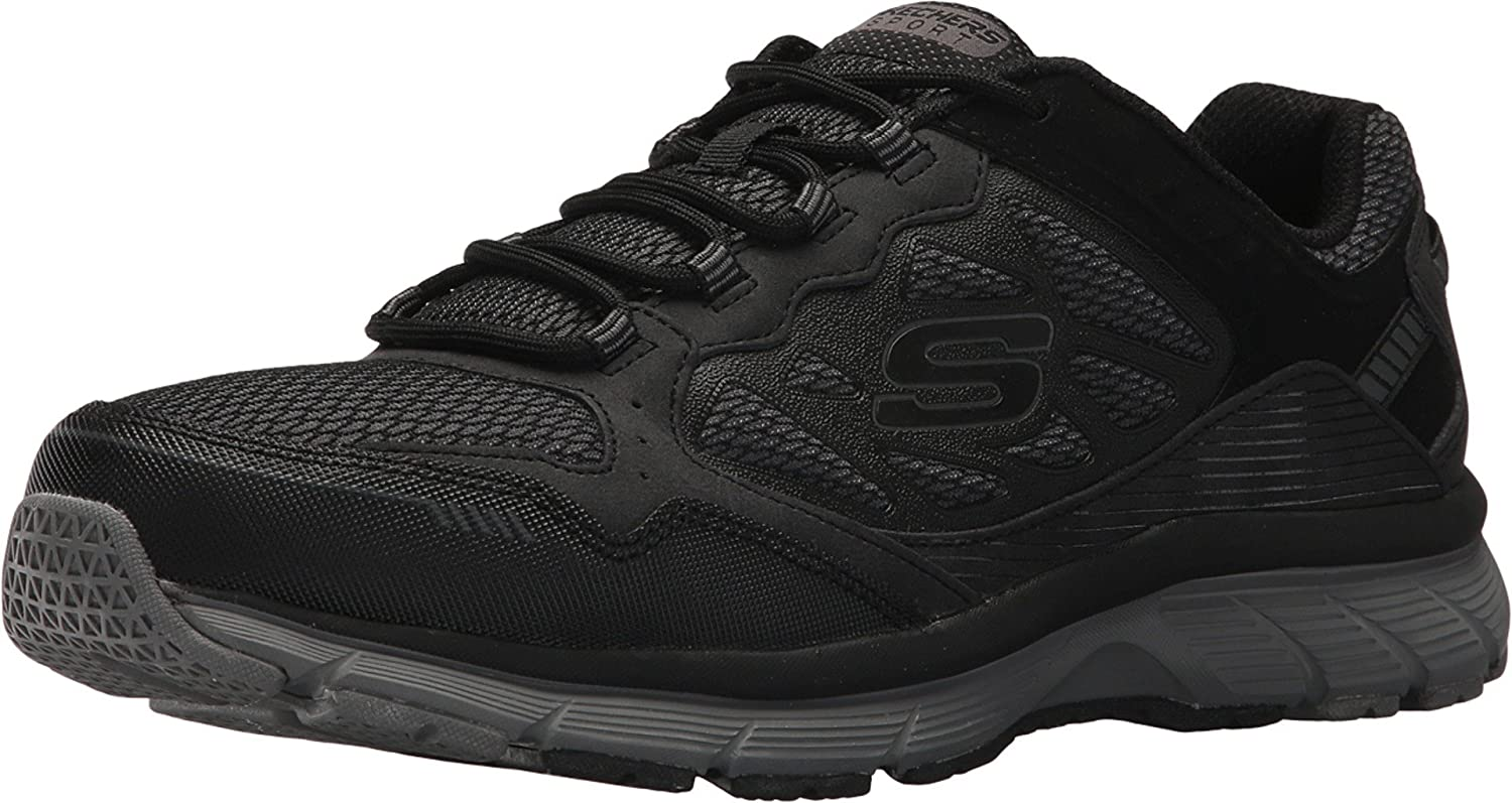 Mensurable Mismo Óxido  Skechers Mens Bowerz Trainers in Black- Lace Fastening- Padded Collar and:  Amazon.co.uk: Shoes & Bags