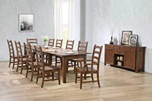 Sunset Trading DLU-BR134-AM12PC Simply Brook Dining Table Set, Four Size, Buffet, Amish Brown