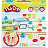 Play-Doh - Shape & Learn - Numbers & Counting inc 3 Tubs of Dough & acc - Creative Kids Toys - Ages 2+