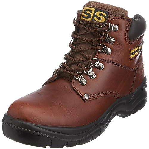 Sterling Safetywear Sterling Steel ss807sm - Botas de protección de cuero para hombre, color marrón