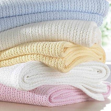 ASAB – Manta para bebés de 100 % algodón suave,