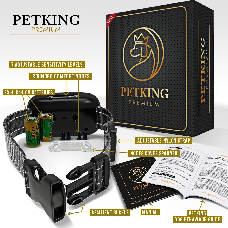 Petking–Collier anti aboiement pour chien efficace, sûr et sans cruauté pour les races petites, moyennes et grandes, sans chocs ou spray, utilisation de vibrations. product image