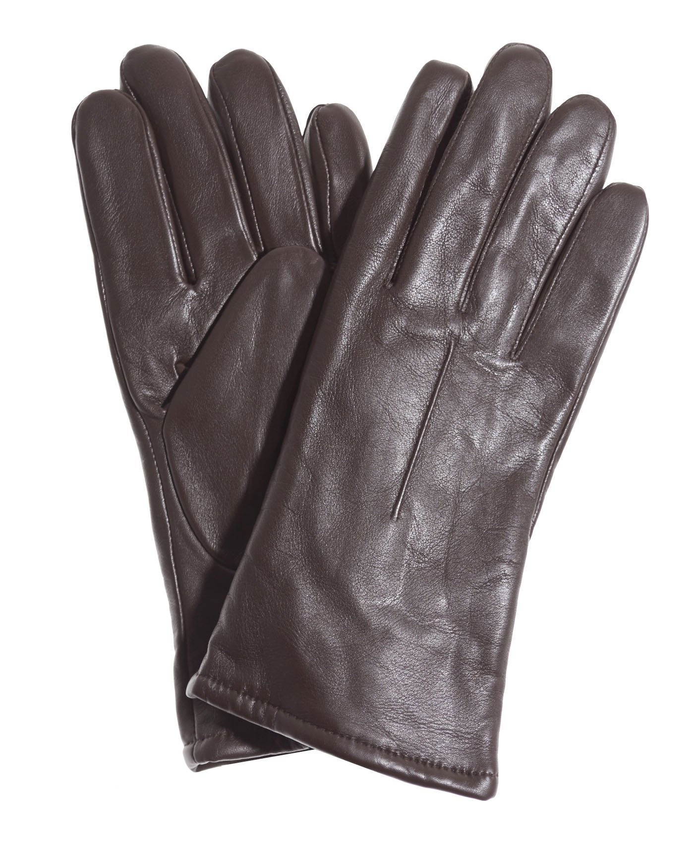 Pratt and Hart Women's Classic Sherpa Lined Leather Gloves Size 7 1/2 Color Brown