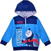 Thomas the Train Pullover Hoodie for Boys, Fleece Half Zip Hooded Sweater