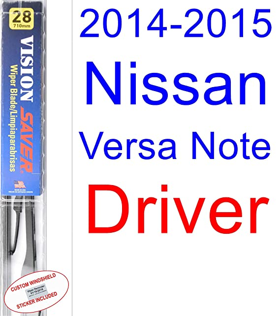 Amazon.com: 2014-2015 Nissan Versa Note Replacement Wiper Blade Set/Kit (Set of 2 Blades) (Saver Automotive Products-Vision Saver): Automotive