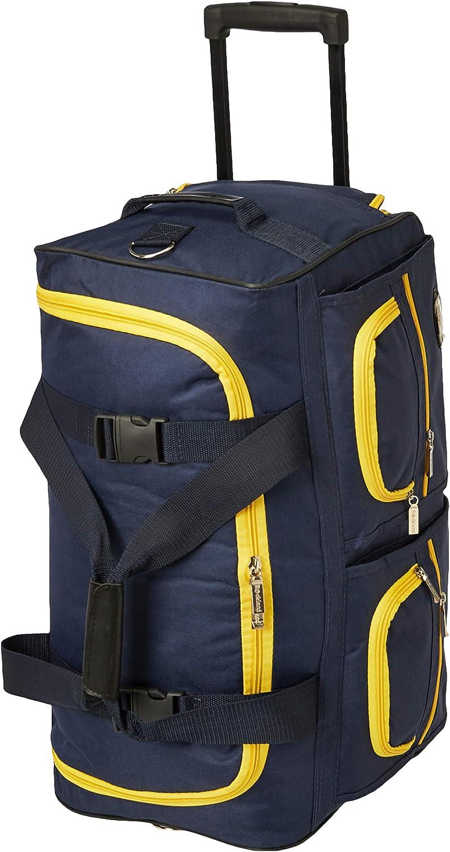 Rockland Rolling Duffel Bag, Navy, 22-Inch