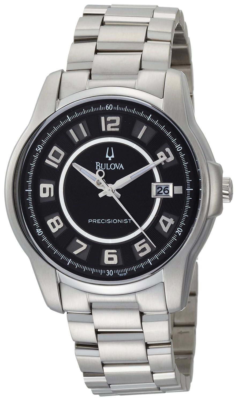 Amazon.com: Bulova Mens 96B129 Precisionist Claremont Black Stainless Steel Watch: Bulova: Watches