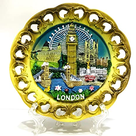Amazon.com: Londres Souvenir 10 cm Cut Out Plato Decorativo ...