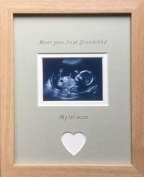 mit Sonogramm Glas doppelt Baby First Scan Fotorahmen