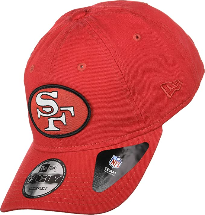 8aa860c9a New Era San Francisco 49ers Classic Patch Adjustable NFL Cap Red   Amazon.co.uk  Sports   Outdoors