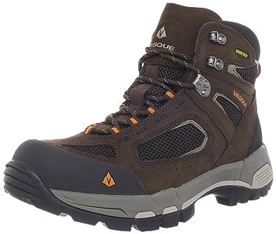 Vasque Mens Breeze 20 GoreTex Waterproof Hiking Boot Slate BrownRusset Orange