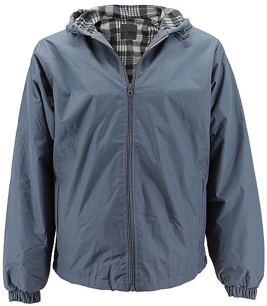 8455d26d7 Renegade Men's Water Resistant Polar Fleece Lined Hooded Rain Jacket  (Medium, Deluxe Grey)