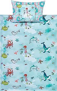Aminata Kids Kinder Bettwäsche Set 135 X 200 Cm Fisch E Motiv