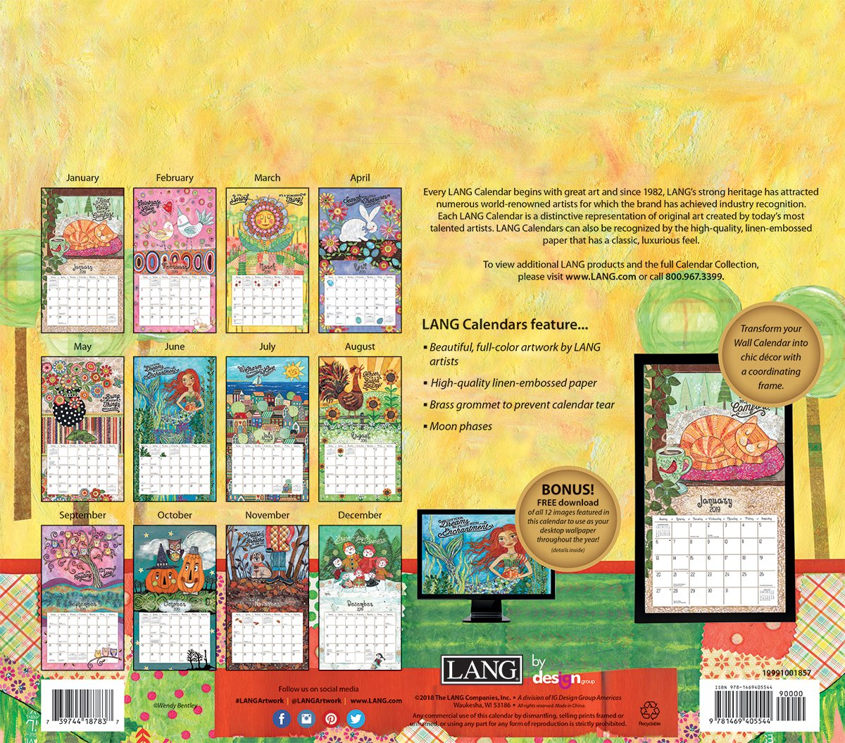 The Lang Companies Favorite Things 2019 Wall Calendar (19991001857) by The LANG Companies (Image #2)