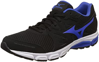 f4f2cd1566ab Mizuno Men's R6A3B4, Synchro Md Black/Blue/White Running Shoes-10 UK