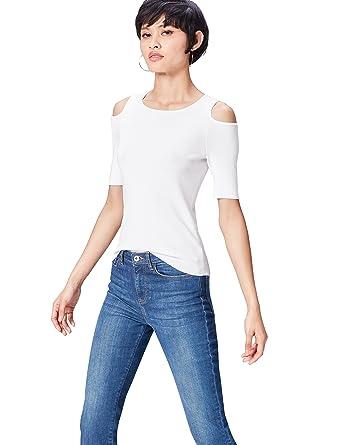 ceeca9c4f4c6 FIND T-Shirt à Epaules Dénudées Femme  Amazon.fr  Vêtements et accessoires