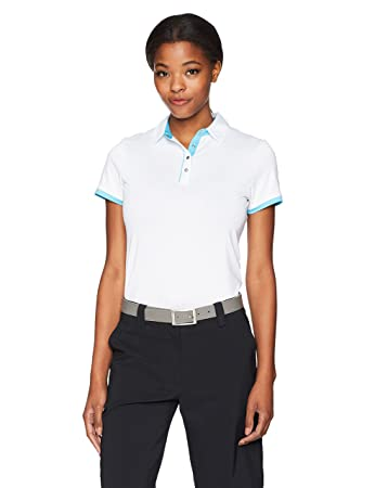 714d243447 Callaway Women's Polo With Contrast Trim Short Sleeve