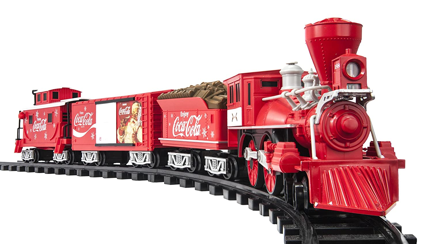 Lionel Trains Coca Cola Holiday G Gauge Train Set Toys Center Off Switch Wired To Control Remote Track Games