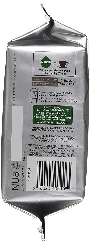 Amazon.com : Tassimo Nabob Espresso Coffee - 14 T-discs for ...