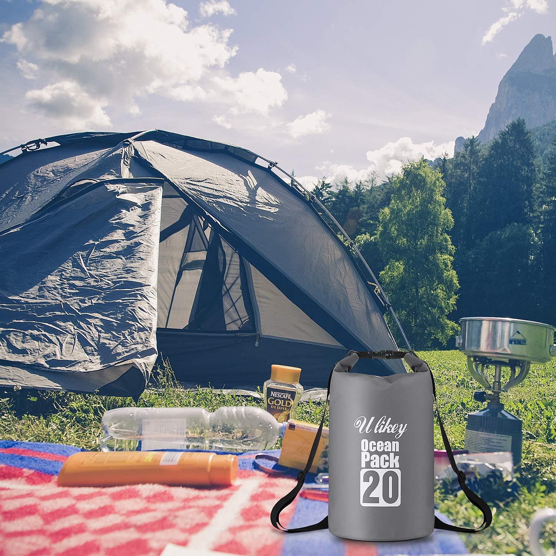 Kayak y Snowboard Set de Bolsa Waterproof para Playa 20L Impermeable Seca PVC Camping Senderismo Ulikey Bolsa Estanca Bolsa Impermeable Deportes Al Aire