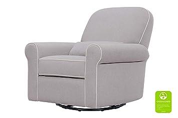 Amazing Davinci Ruby Recliner And Swivel Glider Gray And Cream Machost Co Dining Chair Design Ideas Machostcouk