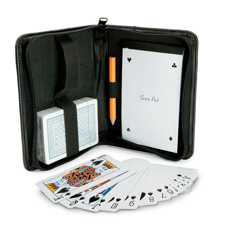 Spielkartenset mit Notizbuch und Bleistift