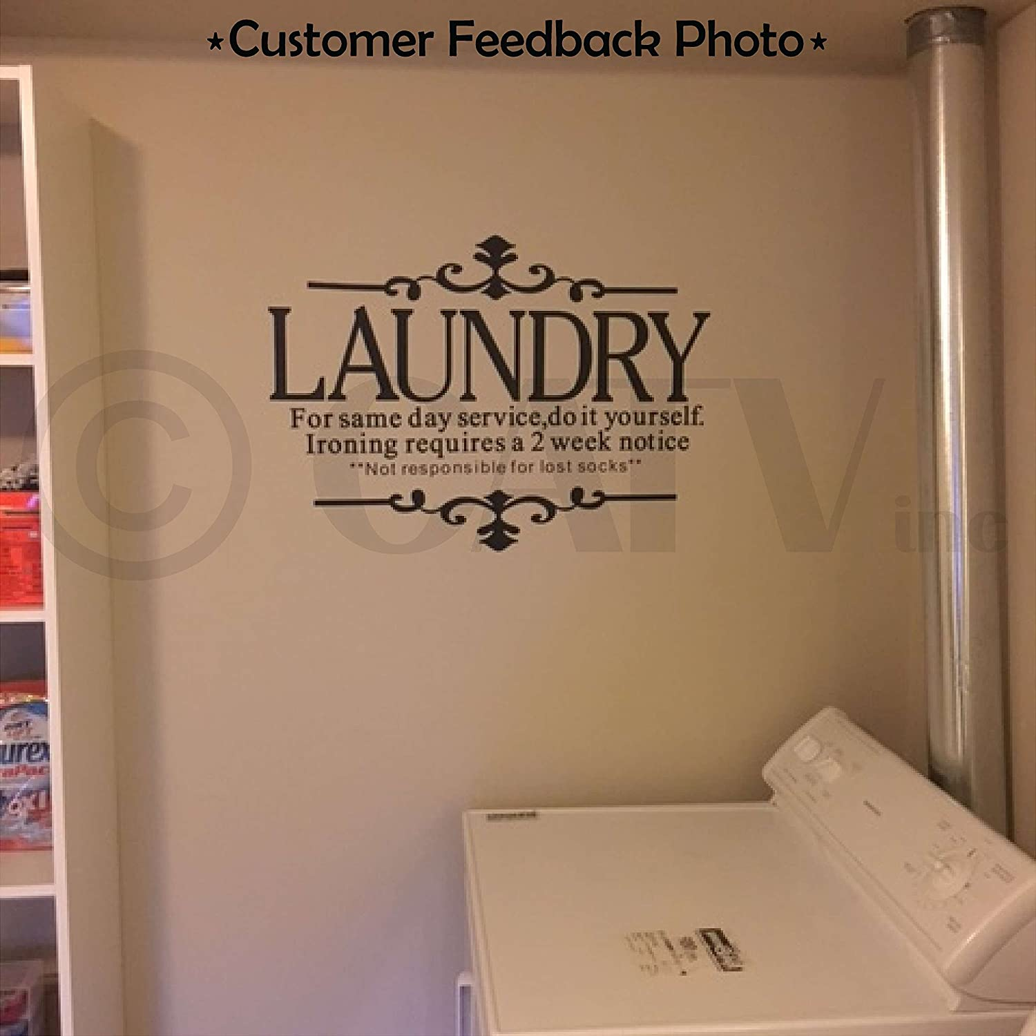 amazon com laundry for same day service do it yourself ironing amazon com laundry for same day service do it yourself ironing requires a 2 week notice vinyl lettering wall decal black 21
