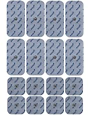 Compatible electrodes SANITAS BEURER BOOTS - 16 TENS & EMS pads for electrostimulation machines - 3.5mm button - axion brand quality