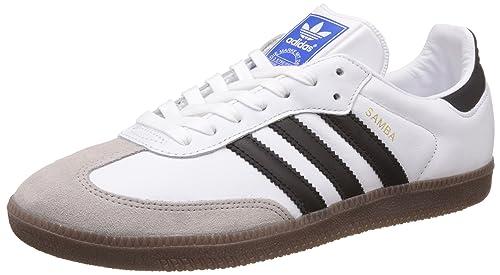 adidas Originals Men s Samba Og Ftwwht, Cblack and Gum5 Leather Sneakers -  8 UK  ab913fd8df