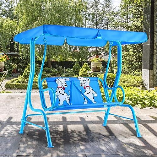 HAPPYGRILL Mini Patio Swing