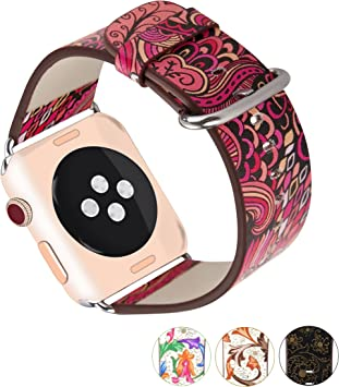 X-cool para correa apple watch 42mm Cuero blando Diseño de temporadas para Apple Watch Series 3 /2/1 (Verano-42): Amazon.es: Deportes y aire libre