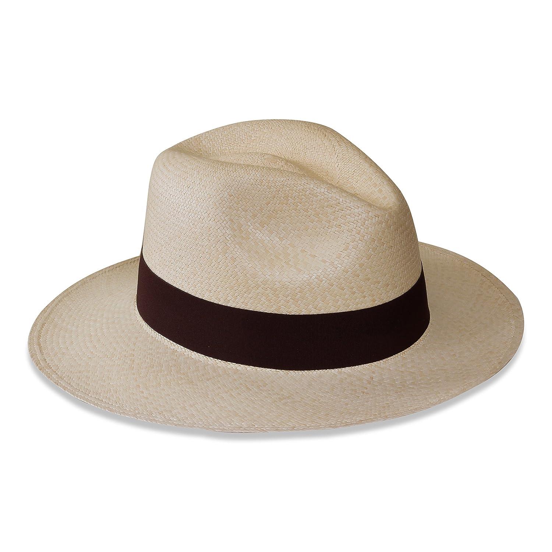 Tumia - Sombrero Panamá Fedora - Versión no Enrollable - Blanco o Natural  Ampliar imagen 69bf3d0c3f7