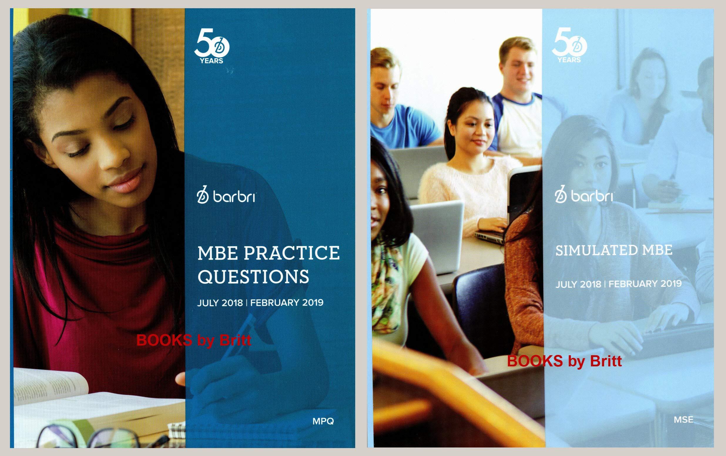 2018-2019 Barbri Bar Exam MBE 2books - MBE Practice