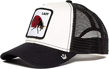 Goorin Bros Trucker Cap Lady Bug Black/White - One-Size: Amazon.es ...