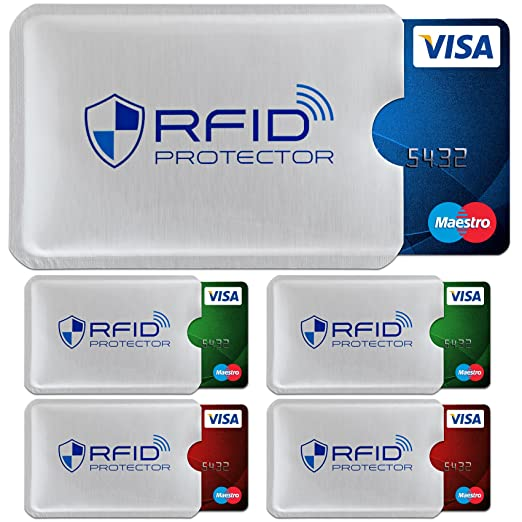 TRAVANDO ® RFID-Schutzhülle Set (5 Stück) für Bankkarte, EC-Karte ...