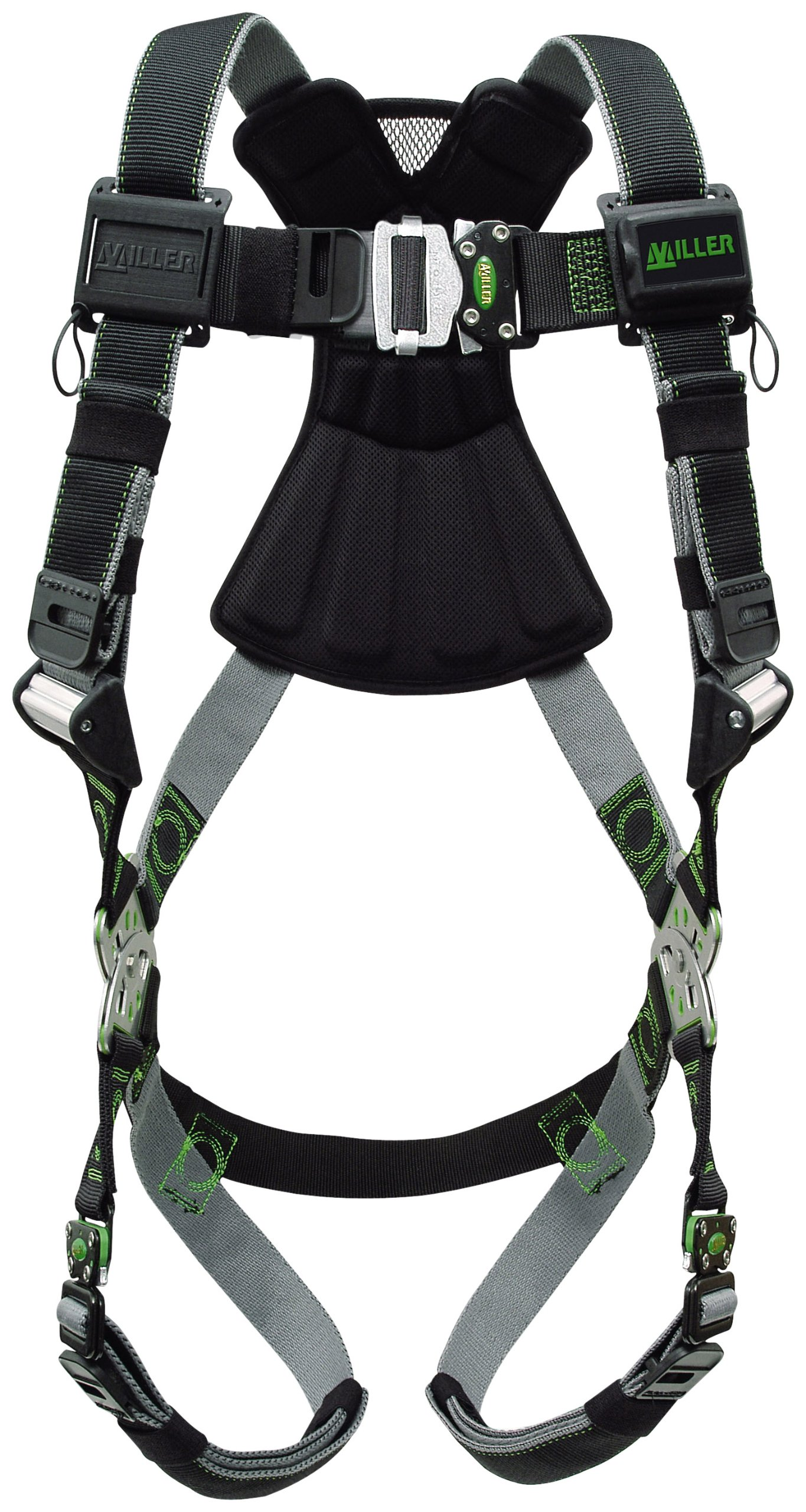 Miller Revolution Full Body Safety Harness with Quick Connectors, Universal Size-Large/XL, 400 lb. Capacity (RDT-QC/UBK) by Miller
