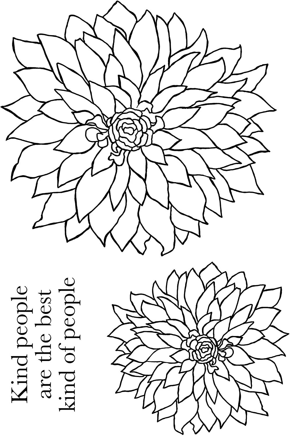 JGS513 Bold Blooms Woodware A6 Clear Cling Stamps Delilah