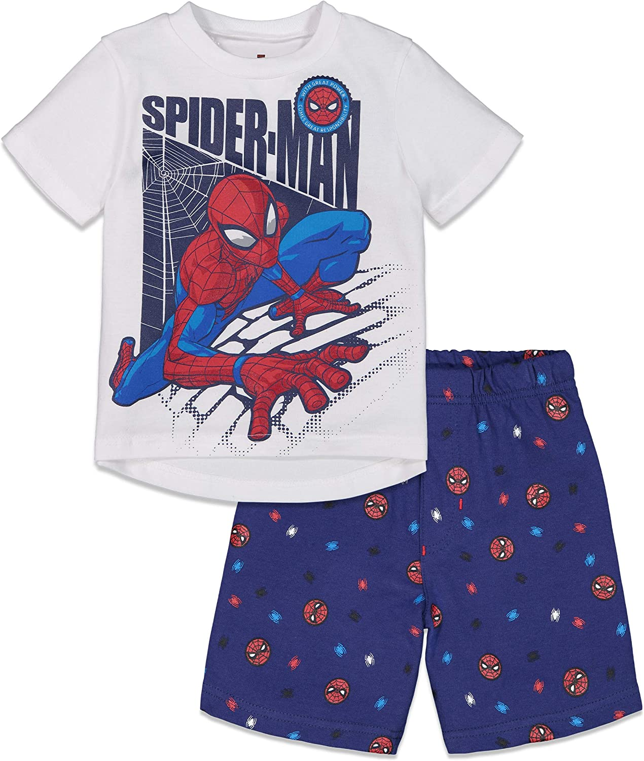 Marvel Avengers Spiderman T-Shirt and French Terry Shorts Set