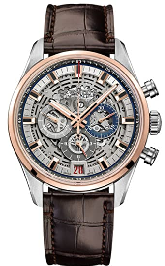 CENIT EL Primero Chronomaster esqueleto 42 mm Mens Reloj 51.2081.400/78.c810