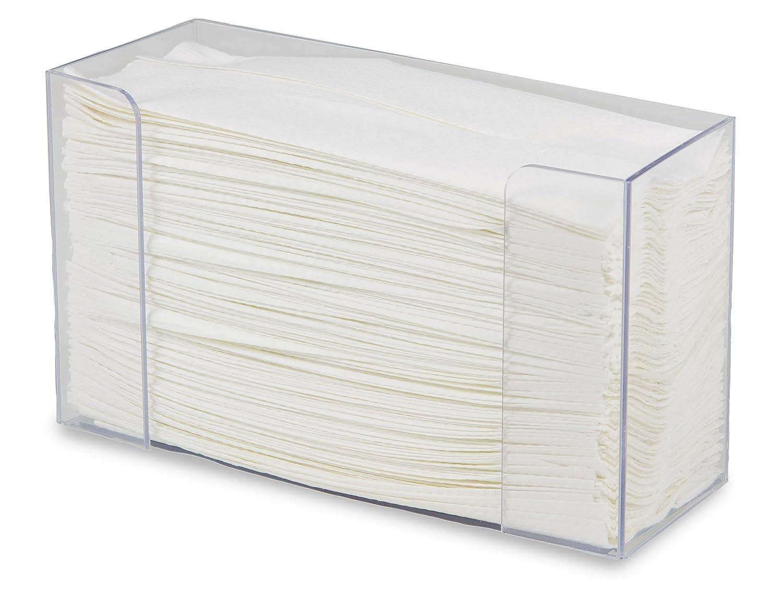 TrippNT 50709 Clear PETG Single Stack Tri-Fold Paper Towel Dispenser Holder 10 3//4 W x 6 5//8 H x 4 /¼ D