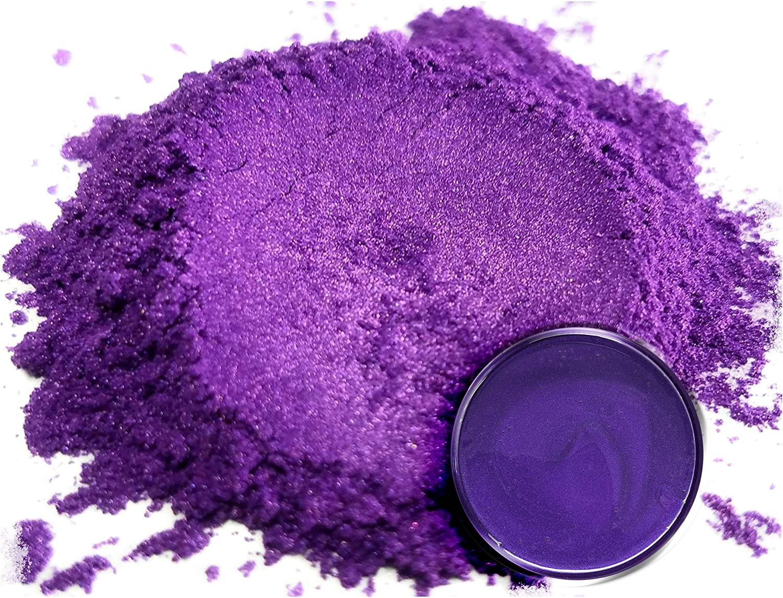 "Mica Powder Pigment ""Rainbow Violet"" (50g) Multipurpose DIY Arts and Crafts Additive   Woodworking, Epoxy, Resin, Paint, Soap, Natural Bath Bombs, Nail Polish, Lip Balm (Rainbow Violet, 50G)"