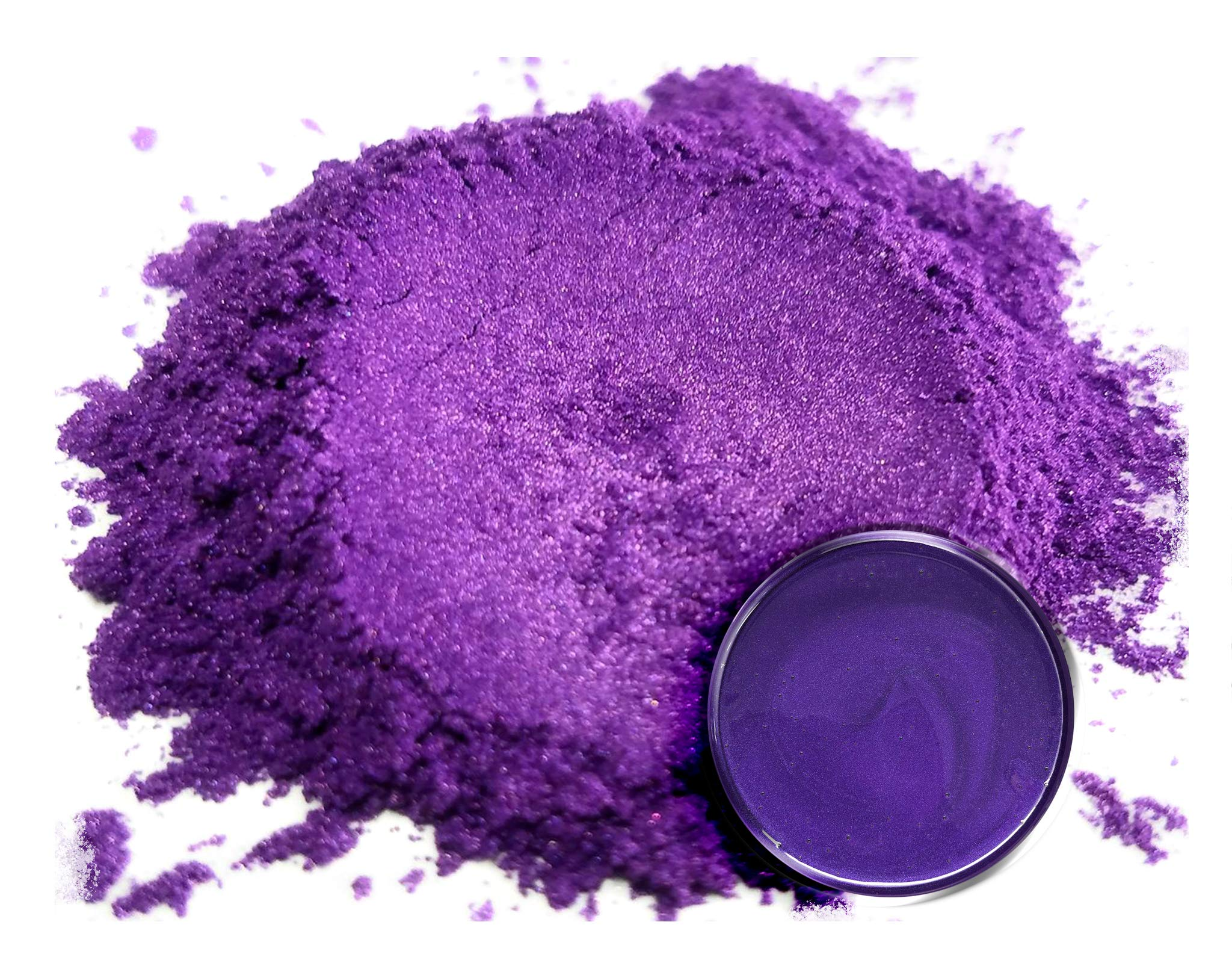 Mica Powder Pigment ''Rainbow Violet'' (50g) Multipurpose DIY Arts and Crafts Additive | Woodworking, Epoxy, Resin, Natural Bath Bombs, Paint, Soap, Nail Polish, Lip Balm by Eye Candy