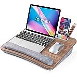 """LORYERGO Lap Desk - Laptop Lap Desk, Fits up to 15.6"""" Laptop, Lap Desk for Laptop w/ Wrist Pad & Tablets/Cellphones Slot, Lap"""