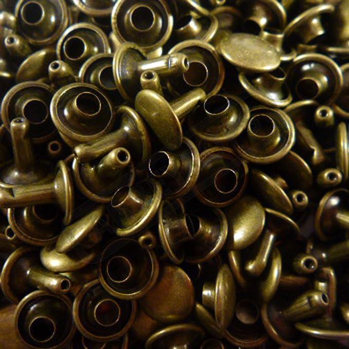 6 x 5 x 7 9 x 8 und 9 x 12 Nieten f/ür Lederarbeiten Abbeytops Nieten mit Einzelkappe