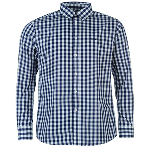 Pierre Cardin - Camisa Casual - para Hombre Azul Marino Small ...