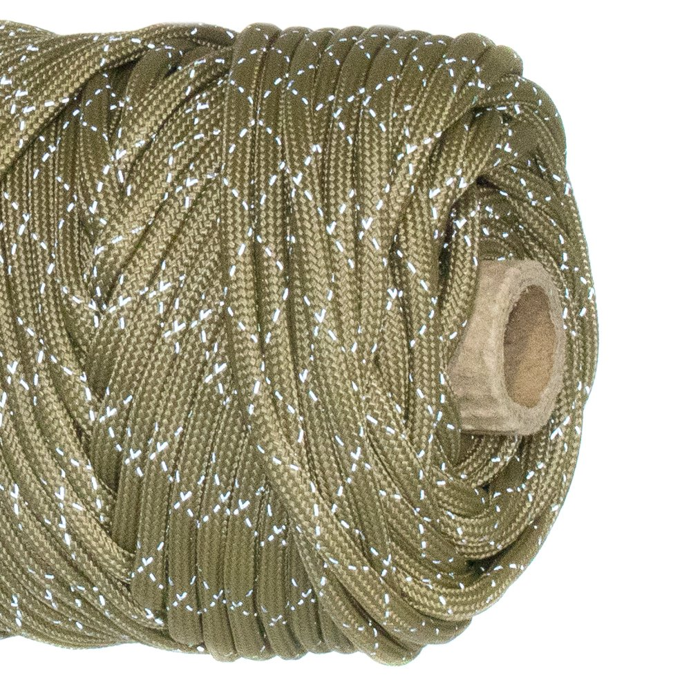 Paracord Planet Reflective Tracer 700lb Paracord – 100 %ナイロン高可視性コード B0784TR788 Reflective Coyote Brown 250 Feet on Spool 250 Feet on Spool|Reflective Coyote Brown