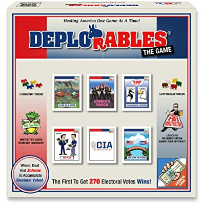 Deplorables Bipartisan Game: Election Board Game for Game Nights. Watch Video! Get 270 Electoral Votes to Win! Drain The Swamp, Dodge The FBI, Political Game, Social Game, Party Game, History Game: Toys & Games