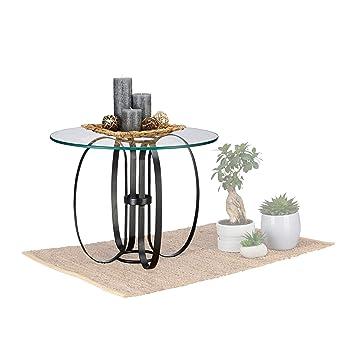 Native Home Glastisch rund, modern, Glas & Metall, ALS ...
