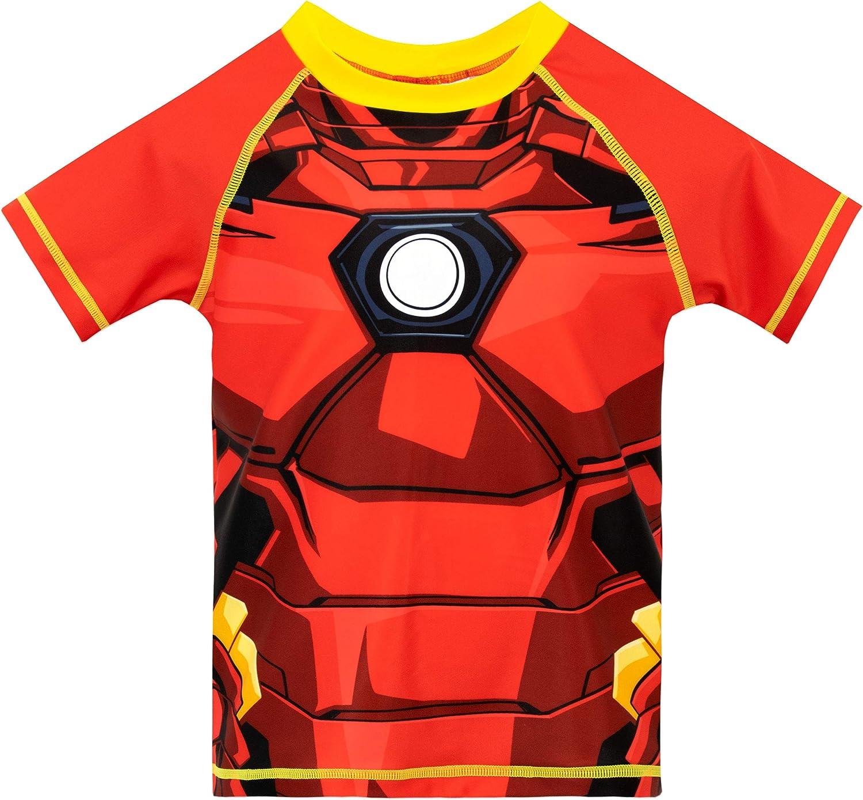 Marvel 2 Piece Superhero Boys Print Swim Set Swimwear Top Shorts