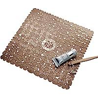 InterDesign Pebblz Non-Slip Suction Bath Mat – Square Mat for Shower or Tub